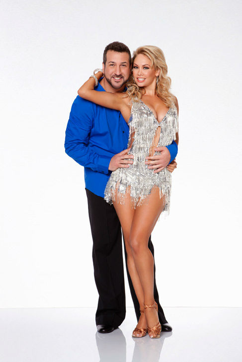 Joey Fatone and Kym Johnson, who were partners in season 4, appear in an official cast photo for 'Dancing With The Stars: All-Stars' season 15.
