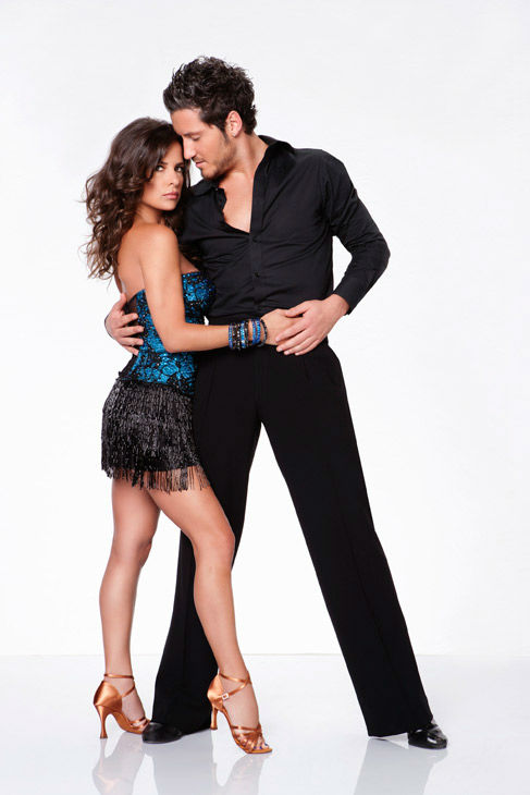 "<div class=""meta ""><span class=""caption-text "">Kelly Monaco and Valentin Chmerkovskiy appear in an official cast photo for 'Dancing With The Stars: All-Stars' season 15. The new season of 'Dancing with the Stars,' premieres on Monday, September 24 at 8 p.m. on ABC. (ABC / Craig Sjodin)</span></div>"