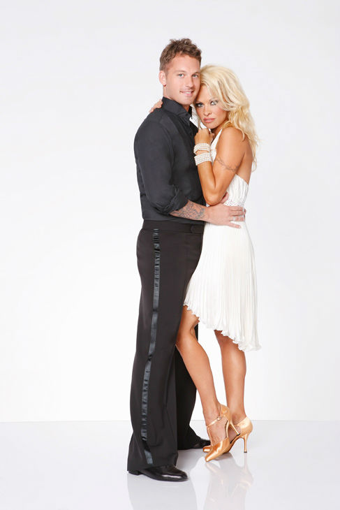 Pamela Anderson and Tristan MacManus appear in an official cast photo for &#39;Dancing With The Stars: All-Stars&#39; season 15. The new season of &#39;Dancing with the Stars,&#39; premieres on Monday, September 24 at 8 p.m. on ABC. <span class=meta>(ABC &#47; Craig Sjodin)</span>