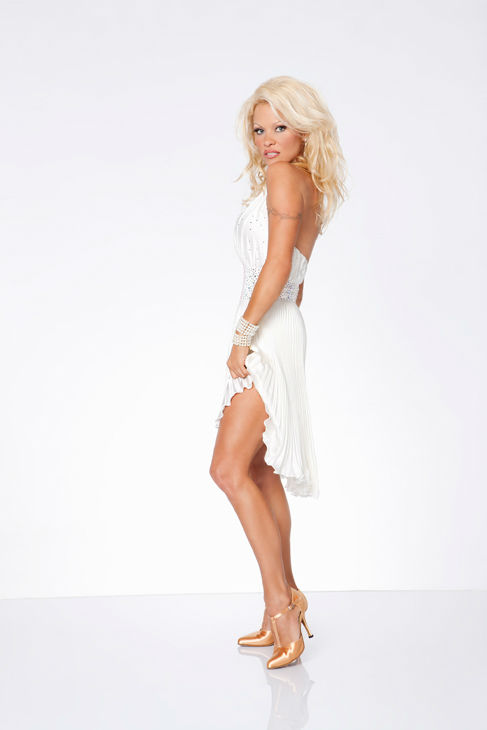 Pamela Anderson appears in an official cast...