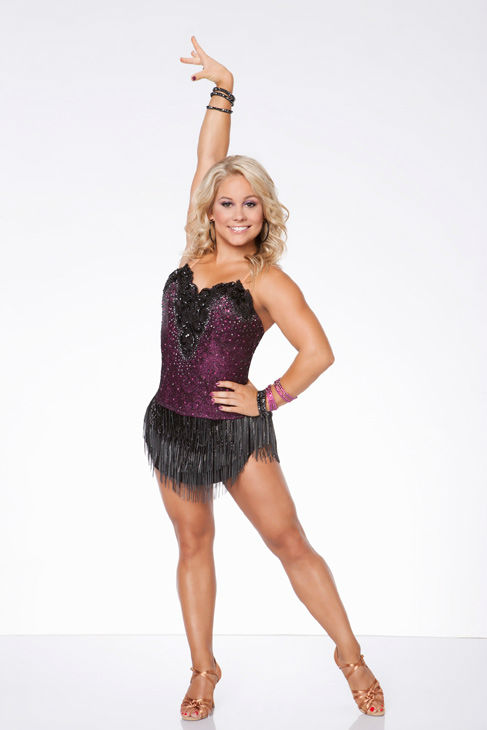 Shawn Johnson appears in an official cast photo...