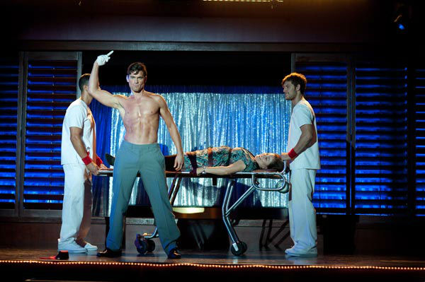 Matt Bomer and Alex Pettyfer appear in a still from Warner Bros. Pictures' dramatic comedy 'Magic Mike,' which is slated for release on June 29, 2012.