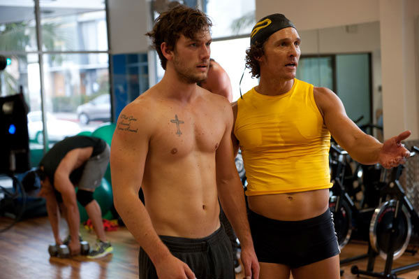 Alex Pettyfer and Matthew McConaughey appear in a still from Warner Bros. Pictures' dramatic comedy 'Magic Mike,' which is slated for release on June 29, 2012.