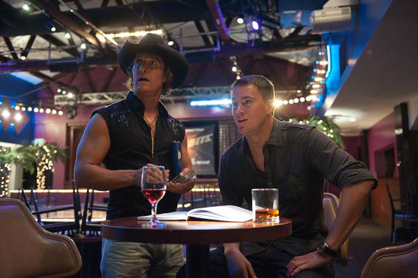 "<div class=""meta ""><span class=""caption-text "">Channing Tatum and Matthew McConaughey appear in a still from Warner Bros. Pictures' dramatic comedy 'Magic Mike,' which is slated for release on June 29, 2012. (Warner Bros. Pictures / Claudette Barius)</span></div>"