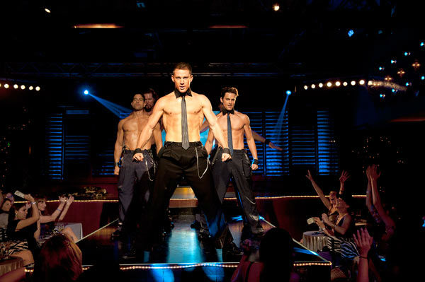 Adam Rodriguez, Kevin Nash, Channing Tatum and Matt Bomer appear in a still from Warner Bros. Pictures' dramatic comedy 'Magic Mike,' which is slated for release on June 29, 2012.