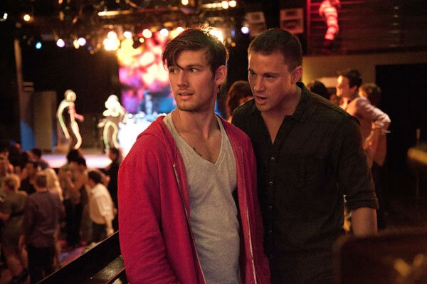 "<div class=""meta ""><span class=""caption-text "">Channing Tatum and Alex Pettyfer appear in a still from Warner Bros. Pictures' dramatic comedy 'Magic Mike,' which is slated for release on June 29, 2012. (Warner Bros. Pictures / Claudette Barius)</span></div>"