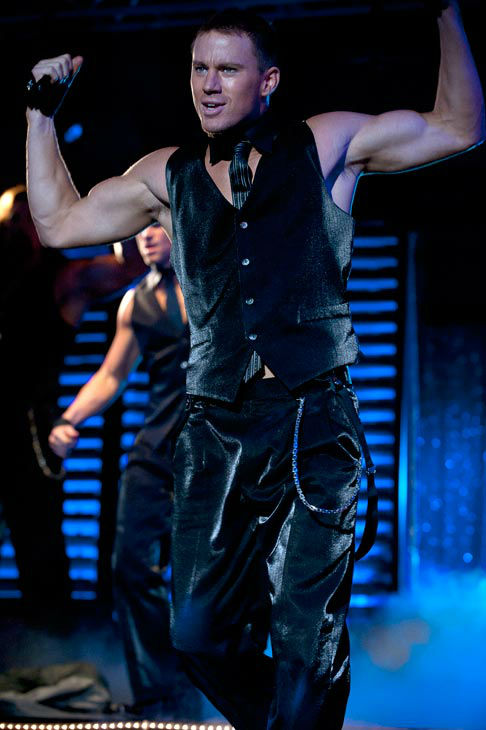 Channing Tatum appears in a still from Warner Bros. Pictures' dramatic comedy 'Magic Mike,' which is slated for release on June 29, 2012.