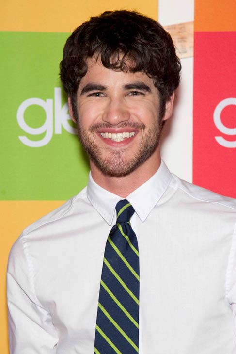 Darren Criss arrives at the GLEE Academy...