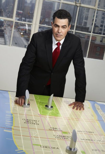 Adam Carolla appears in a promotional photo for the fifth season of the 2012 hit reality show 'The Celebrity Apprentice.'