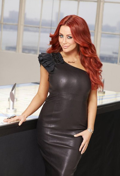 Aubrey O'Day appears in a promotional photo for the fifth season of the 2012 hit reality show 'The Celebrity Apprentice.'