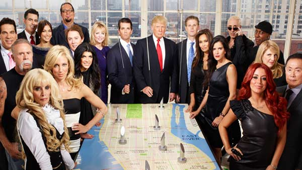 The full cast of season 5 of 'The Celebrity Apprentice' appears in this promotional photo provided by