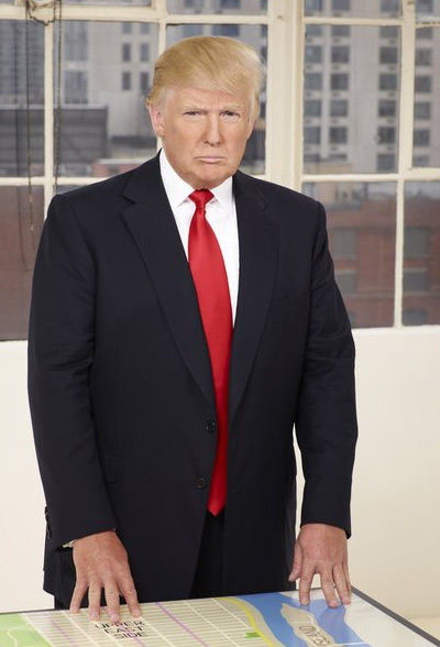 Donald Trump appears in a promotional photo for the fifth season of the 2012 hit reality show 'The Celebrity Apprentice.'
