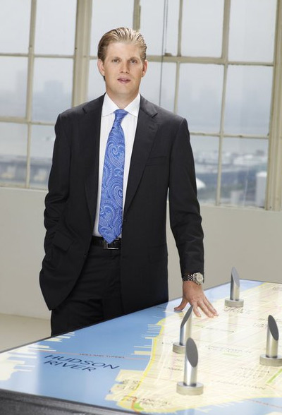 Eric Trump appears in a promotional photo for the fifth season of the 2012 hit reality show 'The Celebrity Apprentice.'