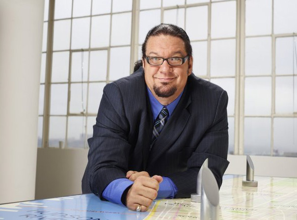 Penn Jillette appears in a promotional photo for the fifth season of the 2012 hit reality show 'The Celebrity Apprentice.'