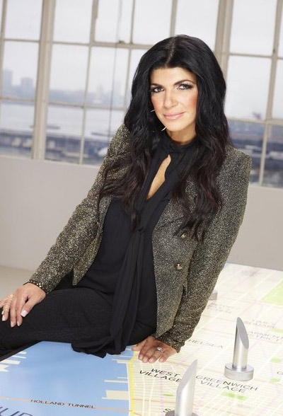 Teresa Giudice appears in a promotional photo for the fifth season of the 2012 hit reality show 'The Celebrity Apprentice.'