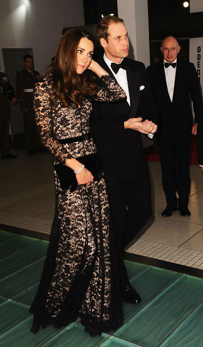 The Duke and Duchess of Cambridge arrive for the UK Premiere of 'War Horse' in aid of The Foundation of Prince William and Prince Harry, at a central London cinema, London, Sunday, Jan. 8, 2012.