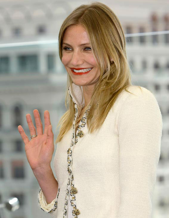 U.S. actress Cameron Diaz poses during a photo call for the Russia premiere of film 'The Bad Teacher' in Moscow, Wednesday, June 15, 2011.