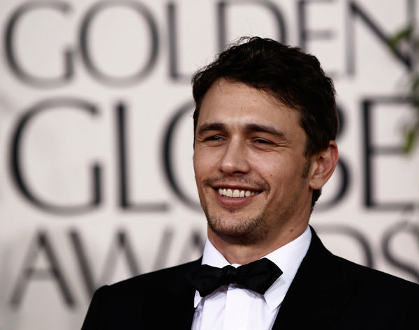Actor James Franco arrives at the Golden Globe...
