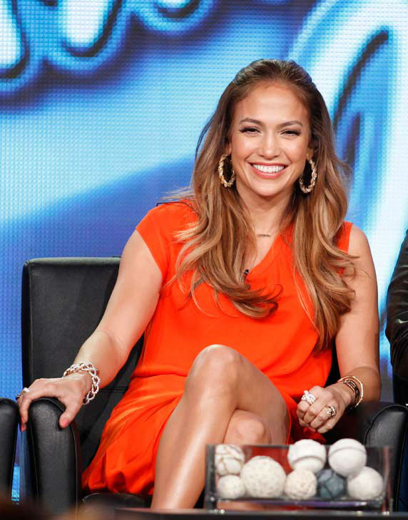 "<div class=""meta image-caption""><div class=""origin-logo origin-image ""><span></span></div><span class=""caption-text"">American Idol Judge Jennifer Lopez participates in the American Idol panel at the Fox Broadcasting Company Television Critics Association Winter Press Tour in Pasadena , Calif. on Sunday, Jan. 8, 2012.  (AP Photo/ Danny Moloshok)</span></div>"