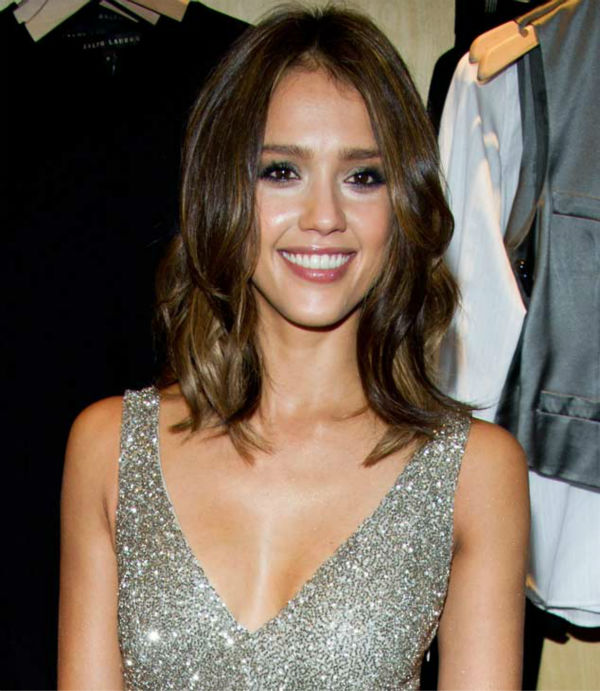 Jessica Alba appears at the Ralph Lauren Soho store for Fashion's Night Out in New York, Friday, Sept. 10, 2010.
