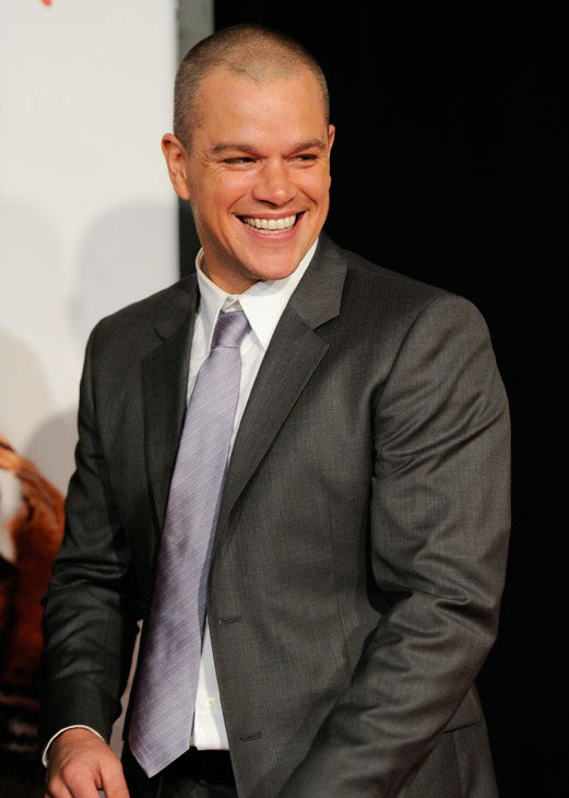 Actor Matt Damon attends the premiere of 'We...