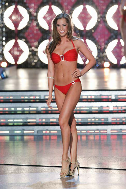 Miss Arizona, Jennifer Sedler appears in the swimsuit competition of &#39;The 2012 Miss America Pageant&#39; telecast live from the Planet Hollywood Resort and Casino in Las Vegas on Saturday, January 14, 2012 at 9 p.m. ET on ABC. <span class=meta>(ABC Photo&#47; Craig Sjodin)</span>