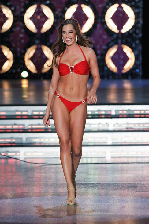 Miss Arizona, Jennifer Sedler appears in the swimsuit competition of 'The 2012 Miss America Pageant' telecast live from the Planet Hollywood Resort and Casino in Las Vegas on Saturday, January 14, 2012 at 9 p.m. ET on ABC.