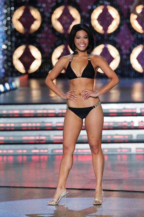"<div class=""meta ""><span class=""caption-text "">Miss Florida, Kristina Janolo appears in the swimsuit competition of 'The 2012 Miss America Pageant' telecast live from the Planet Hollywood Resort and Casino in Las Vegas on Saturday, January 14, 2012 at 9 p.m. ET on ABC.  (ABC Photo/ Craig Sjodin)</span></div>"