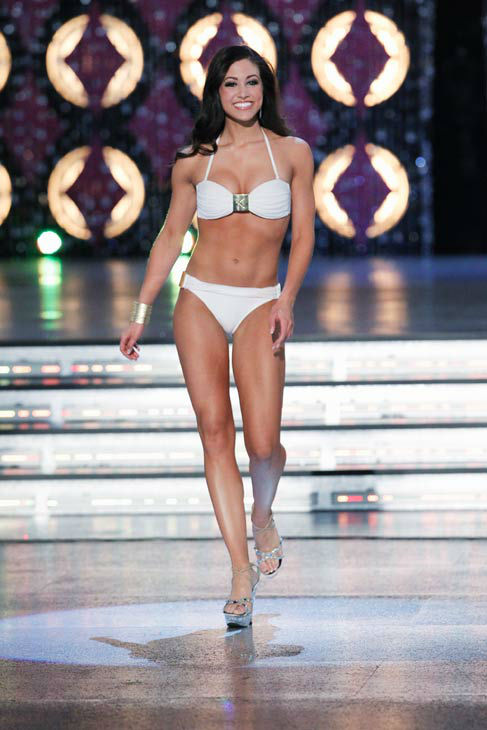 Miss Iowa, Jessica Pray appears in the swimsuit...