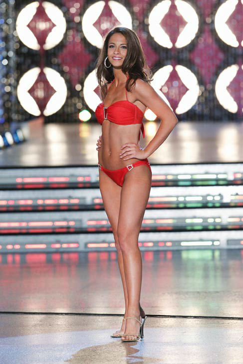 Miss New York, Kaitlin Monte appears in the swimsuit competition of 'The 2012 Miss America Pageant' telecast live from the Planet Hollywood Resort and Casino in Las Vegas on Saturday, January 14, 2012 at 9 p.m. ET on ABC.