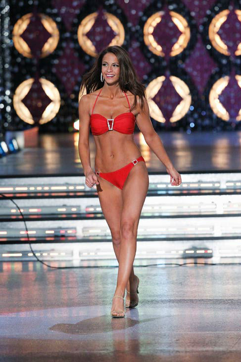 Miss New York, Kaitlin Monte appears in the swimsuit competition of &#39;The 2012 Miss America Pageant&#39; telecast live from the Planet Hollywood Resort and Casino in Las Vegas on Saturday, January 14, 2012 at 9 p.m. ET on ABC. <span class=meta>(ABC Photo&#47; Craig Sjodin)</span>