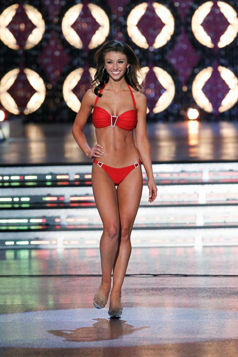 Miss Oklahoma, Betty Thompson appears in the swimsuit competition of &#39;The 2012 Miss America Pageant&#39; telecast live from the Planet Hollywood Resort and Casino in Las Vegas on Saturday, January 14, 2012 at 9 p.m. ET on ABC. <span class=meta>(ABC Photo&#47; Craig Sjodin)</span>