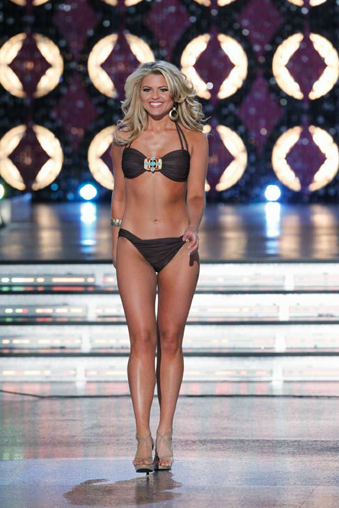 "<div class=""meta ""><span class=""caption-text "">Miss Tennessee, Erin Hatley appears in the swimsuit competition of 'The 2012 Miss America Pageant' telecast live from the Planet Hollywood Resort and Casino in Las Vegas on Saturday, January 14, 2012 at 9 p.m. ET on ABC. (ABC Photo/ Craig Sjodin)</span></div>"