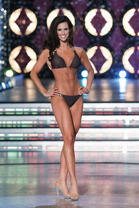 Miss Texas, Kendall Morris appears in the swimsuit competition of 'The 2012 Miss America Pageant' telecast live from the Planet Hollywood Resort and Casino in Las Vegas on Saturday, January 14, 2012 at 9 p.m. ET on ABC.