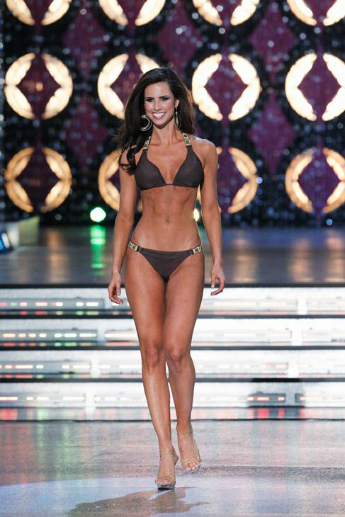 Miss Texas, Kendall Morris appears in the swimsuit competition of &#39;The 2012 Miss America Pageant&#39; telecast live from the Planet Hollywood Resort and Casino in Las Vegas on Saturday, January 14, 2012 at 9 p.m. ET on ABC.  <span class=meta>(ABC Photo&#47; Craig Sjodin)</span>