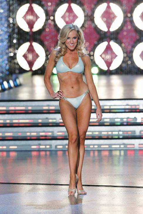 Miss Virginia, Elizabeth Crot appears in the swimsuit competition of 'The 2012 Miss America Pageant' telecast live from the Planet Hollywood Resort and Casino in Las Vegas on Saturday, January 14, 2012 at 9 p.m. ET on ABC.