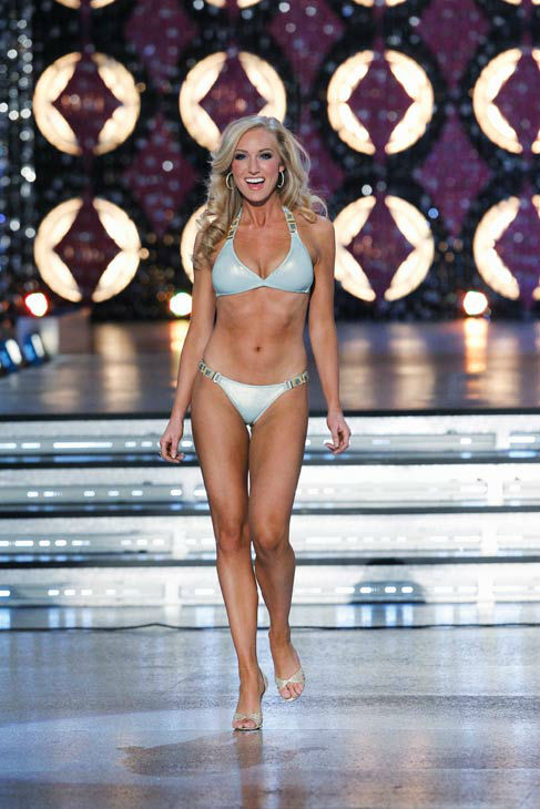 Miss Virginia, Elizabeth Crot appears in the swimsuit competition of &#39;The 2012 Miss America Pageant&#39; telecast live from the Planet Hollywood Resort and Casino in Las Vegas on Saturday, January 14, 2012 at 9 p.m. ET on ABC.  <span class=meta>(ABC Photo&#47; Craig Sjodin)</span>