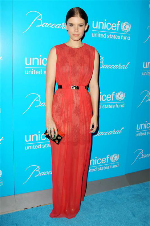 Kate Mara appears in a Jason Wu gown at the 2012 UNICEF Snowflake Ball, presented by Baccarat, in New York on Nov. 27, 2012. <span class=meta>(Amanda Schwab &#47; Startraksphoto.com)</span>