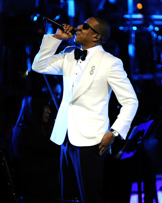Jay-Z performs at Carnegie Hall to Benefit the United Way of New York City and the Shawn Carter Foundation on February 6, 2012 in New York City.  <span class=meta>(Kevin Mazur&#47;WireImage)</span>
