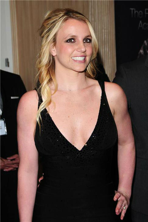 Britney Spears appears at the 2012 Pre-Grammy Gala and Salute to Industry Icons with Clive Davis in Los Angeles, California on Feb 11, 2012.  <span class=meta>(Kyle Rover &#47; startraksphoto.com)</span>