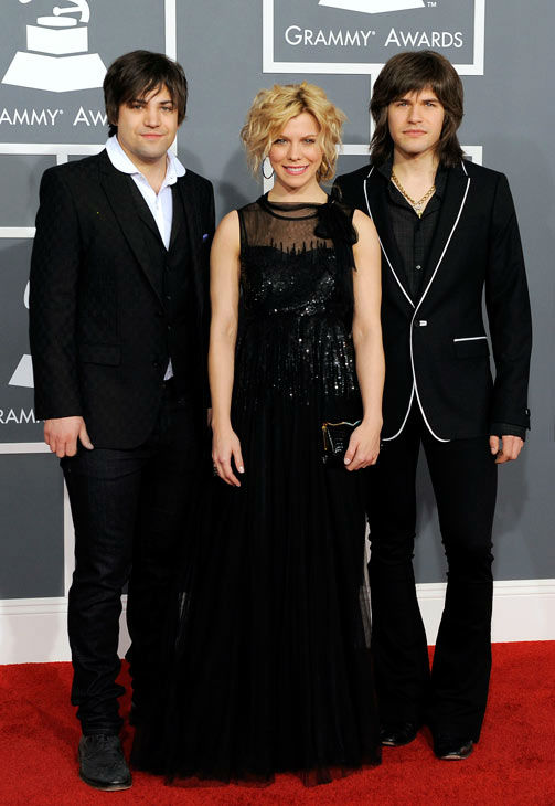 Neil, left, Kimberly, center, and Reid Perry of The Band Perry arrive at the 54th annual Grammy Awards on Sunday, Feb. 12, 2012 in Los Angeles.  <span class=meta>(AP Photo&#47; Chris Pizzello)</span>