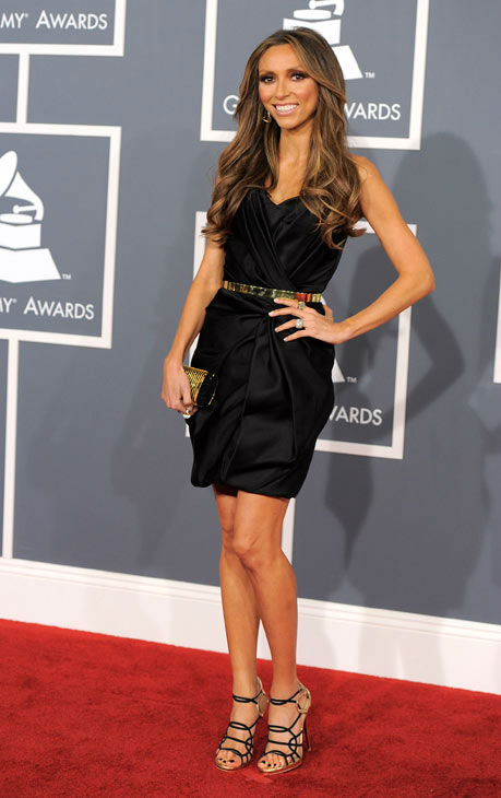 "<div class=""meta image-caption""><div class=""origin-logo origin-image ""><span></span></div><span class=""caption-text"">Giuliana Rancic arrives at the 54th annual GRAMMY Awards on Sunday, Feb. 12, 2012 in Los Angeles. (AP Photo/ Chris Pizzello)</span></div>"