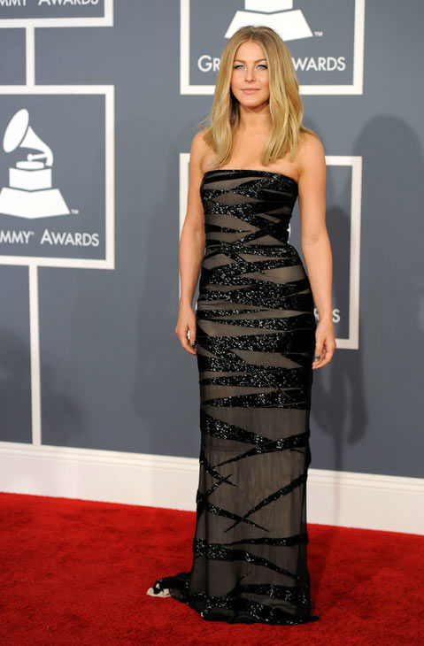 Julianne Hough arrives at the 54th annual Grammy...