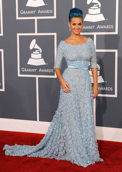 Katy Perry arrives at the 54th annual Grammy...