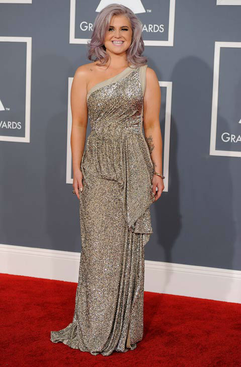 Kelly Osbourne arrives at the 54th annual GRAMMY...