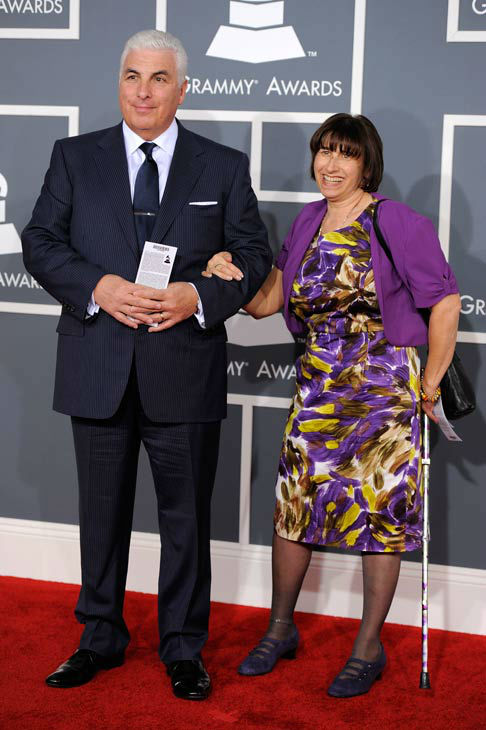 Mitch, left, and Janis Winehouse arrive at the 54th annual GRAMMY Awards on Sunday, Feb. 12, 2012 in Los Angeles. <span class=meta>(AP Photo&#47; Chris Pizzello)</span>