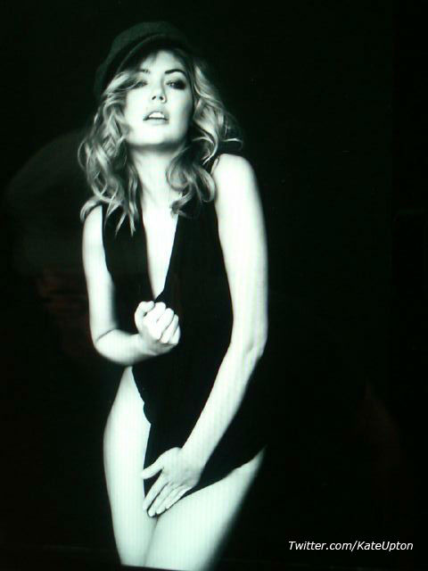 &#39;Great shoot today by the end of the shoot i was wearing Brian&#39;s clothes hot! haha @brianbowensmith @missjobaker,&#39;  Kate Upton Tweeted on December 13, 2011. <span class=meta>(Twitter.com&#47;KateUpton)</span>