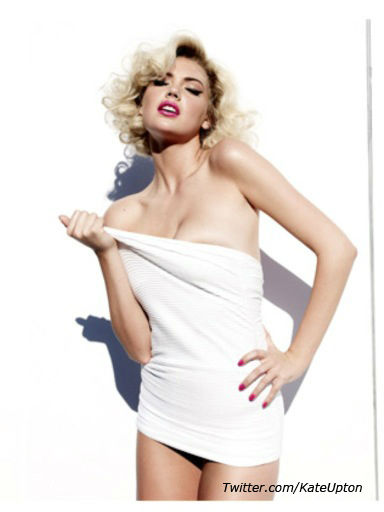 Kate Upton appears in a photo posted on her official Twitter page on January 27, 2012