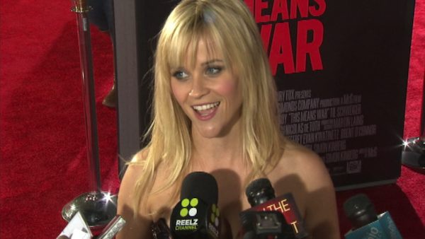 Reese Witherspoon talks to OnTheRedCarpet.com at the Los Angeles premiere of the film 'This Means War' in February 2012.)