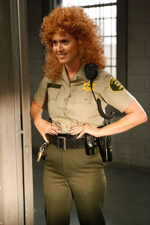 Katy Perry guest-stars as Rikki, a prison attendant, in the &#39;Single White Female Role Model&#39; episode of &#39;Raising Hope&#39; airing Tuesday, March 6 on FOX. <span class=meta>(Fox &#47; Greg Gayne)</span>